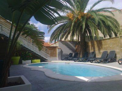 Hôtel avec piscine chauffée à Canet-en-Roussillon