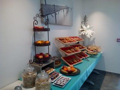 Quality breakfast buffet